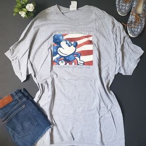 Disney Patriotic Mikey Mouse Shirt